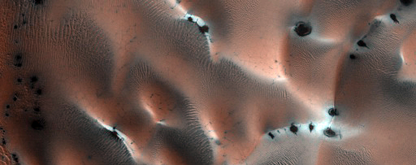 Dunefield on Crater Floor in Northern Plains