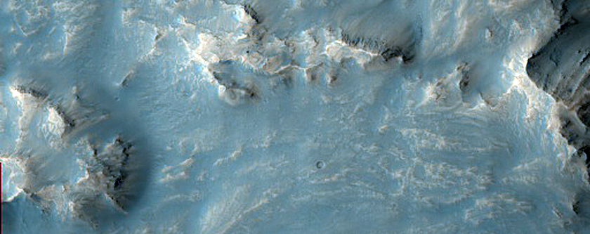 Impact Related Flows Outside Mojave Crater