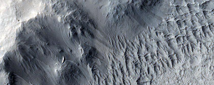 Landforms West of Medusae Fossae