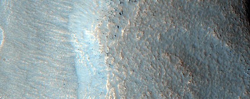 Terrain Sample North of Semeykin Crater