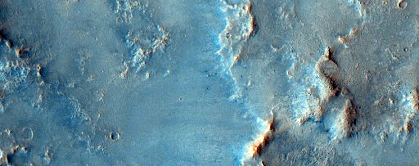 Nili Fossae Crater Ejecta
