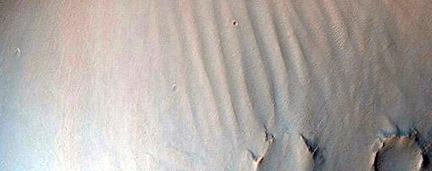Landforms in Schroeter Crater