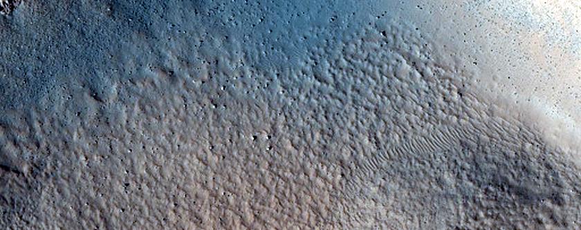 Crater in Tempe Terra