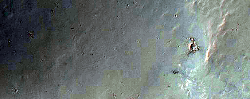Three Central Peaks of Three Impact Craters