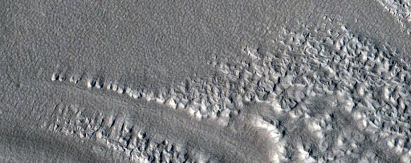 Channel Bedforms and Fan North of Arabia Terra
