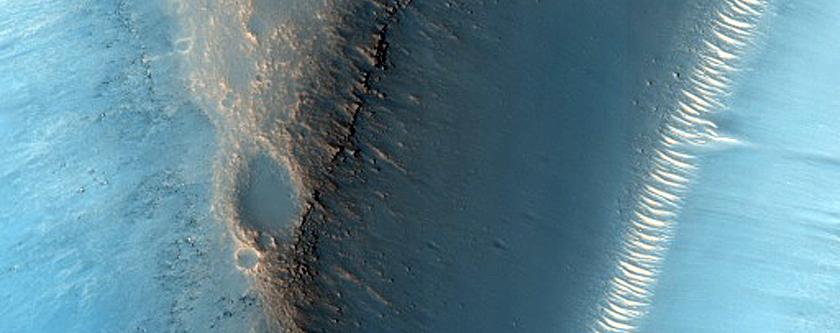 Ridges in Arabia Terra