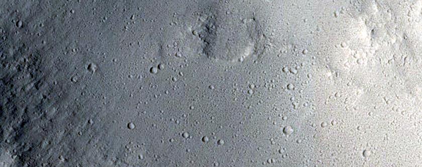 Impact Crater Adjacent to Ravine