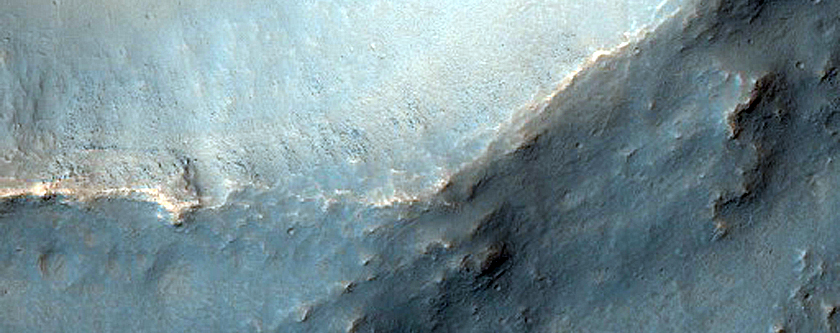 Crater Ejecta with Possible Layering