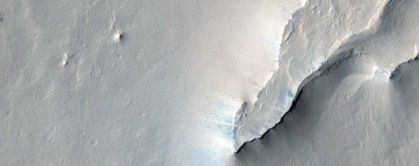 Layers North of Baldet Crater