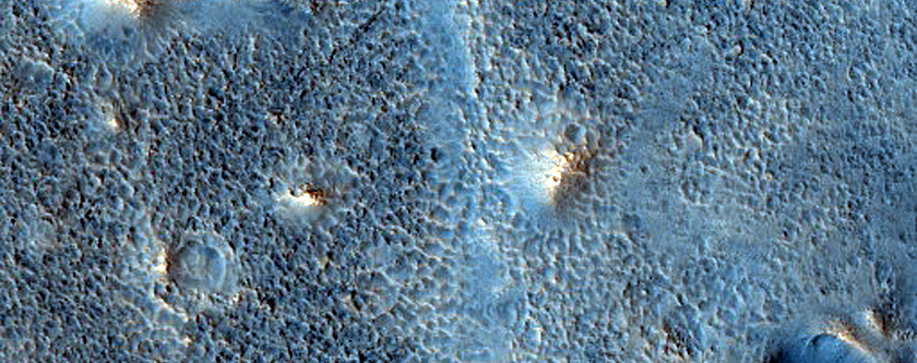 Cratered Cones in Cydonia Colles