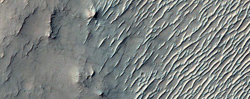 Terrain South of Newcomb Crater
