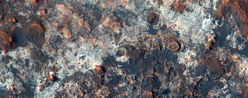 Layered Deposits North of Mawrth Vallis