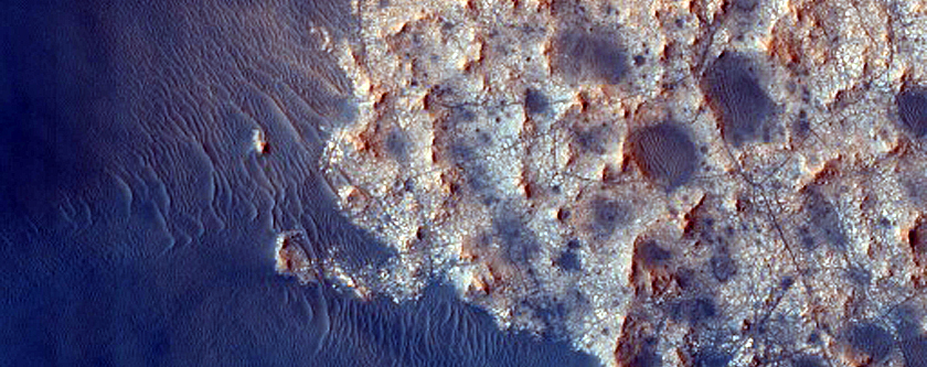 Monitor Dunes in Crater Northeast of Syrtis Major