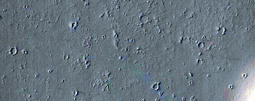 Cones in Tharsis Region