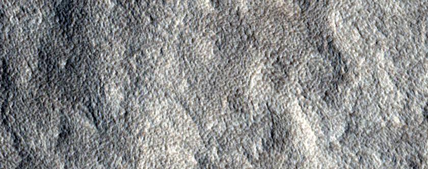 Mid-Latitude Terrain Northwest of Tanais Fossae