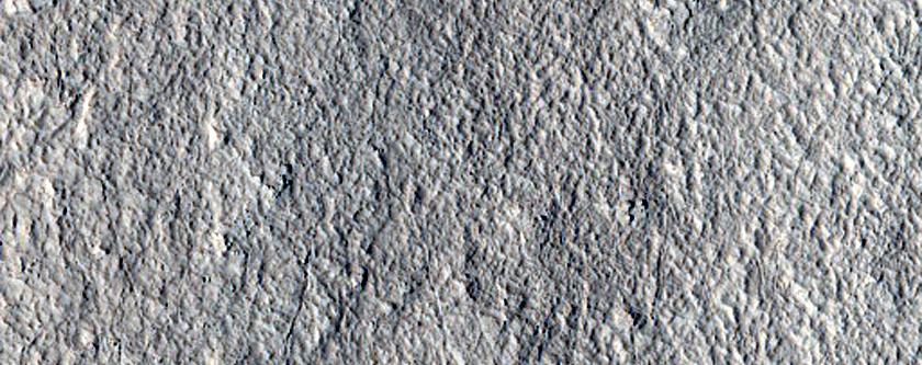 Lineated Valley Floor Material in Northeast Arabia Terra