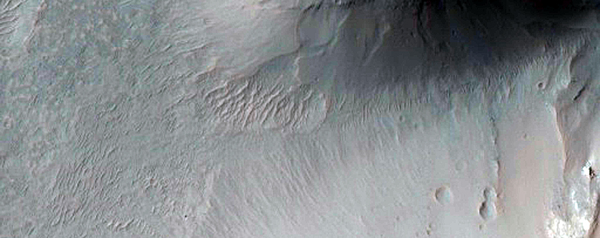 Contacts between Light-Toned and Dark-Toned Rock in Juventae Chasma