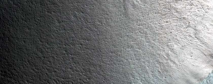 Lobate Features on Crater Wall