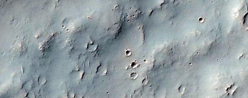 Terrain West of Columbus Crater