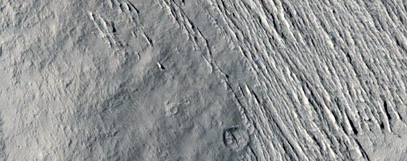 Terrain in Medusae Fossae