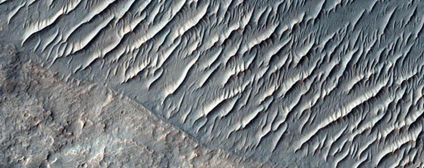 Layered Positive Relief in Association with Osuga Valles Depression