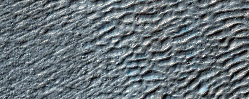 Debris Flow in Southern Mid-Latitude Crater