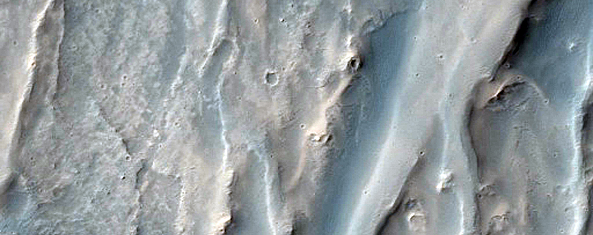 Alluvial Fans in Juventae Chasma