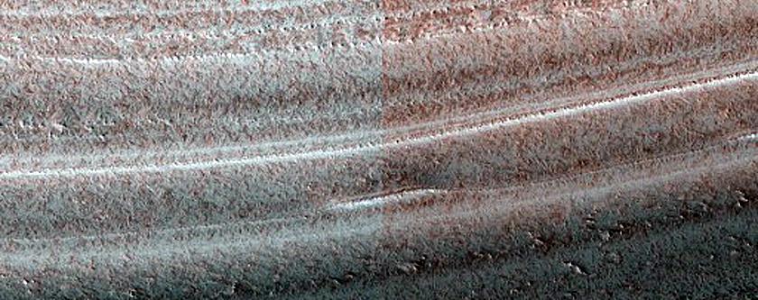 Steep Scarp on North Polar Layered Deposits Periphery