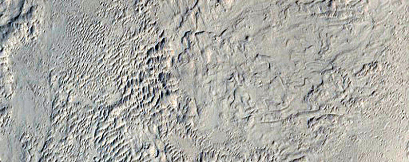 Crater with Possible Dune Strata