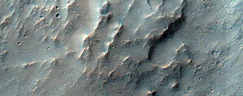 Scarp in Coprates Chasma