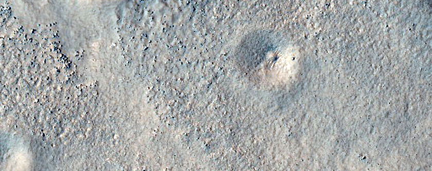 Layered Feature in Crater in Protonilus Mensae