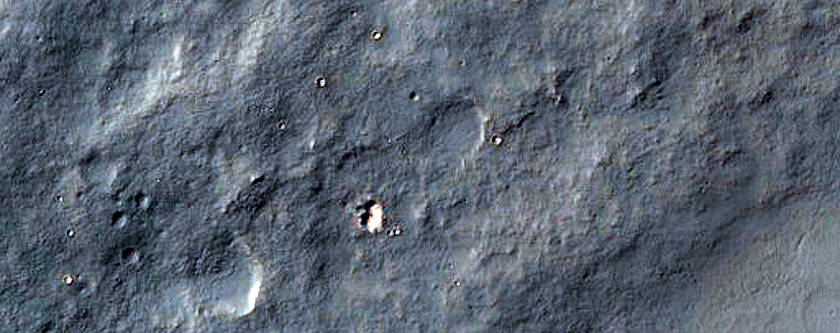 Curved Channel in Claritas Rupes