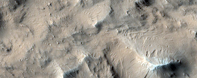 Terrain Southwest of Olympus Mons