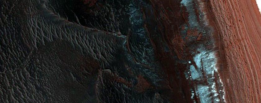 North Polar Layered Deposits Avalanche Scarp Site