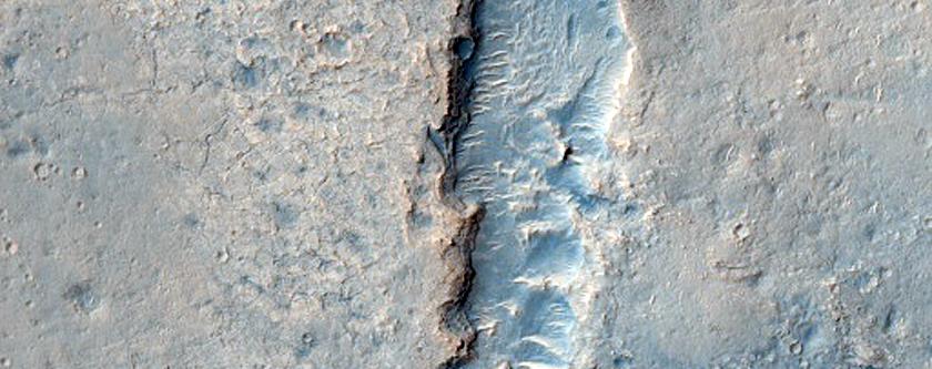 Channels in Sinus Meridiani
