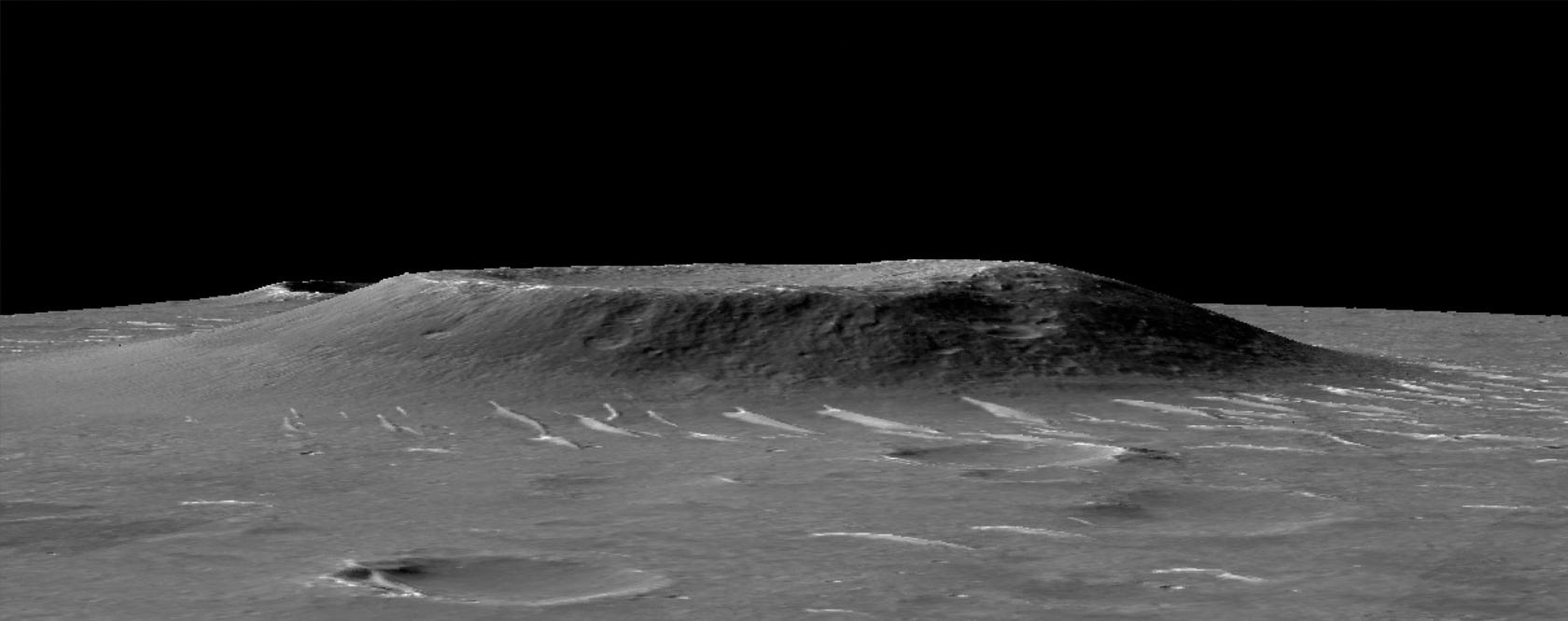 La topografía en el entorno del rover Zhurong