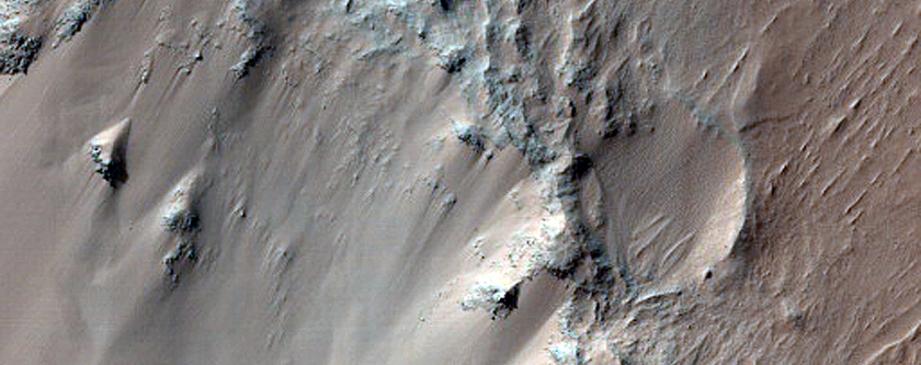 Topography of Steep Slopes in Eos Chasma
