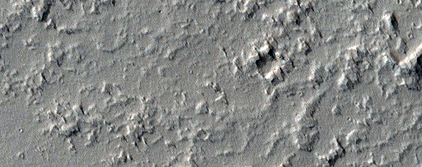 Candidate Recent Impact Site South of Ascraeus Mons