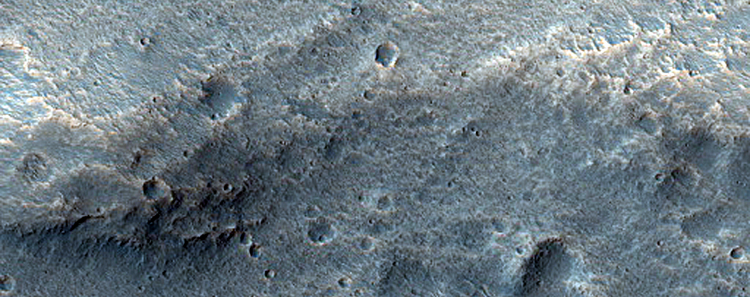 Lobate Ejecta Deposits North of Ravi Vallis