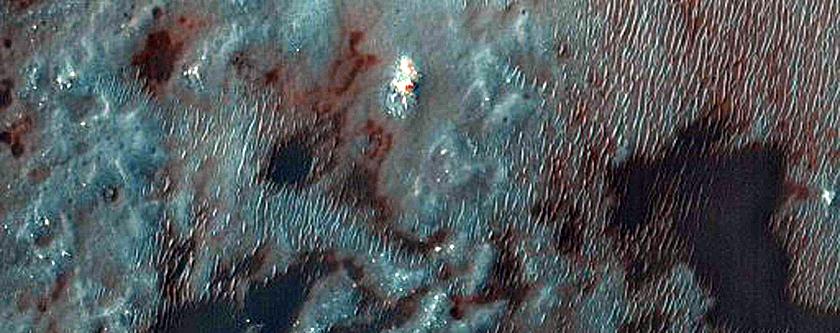 Megabreccia on Floor of Baldet Crater