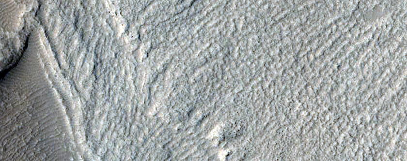 Peanut-Shaped Crater with Glacial Fill