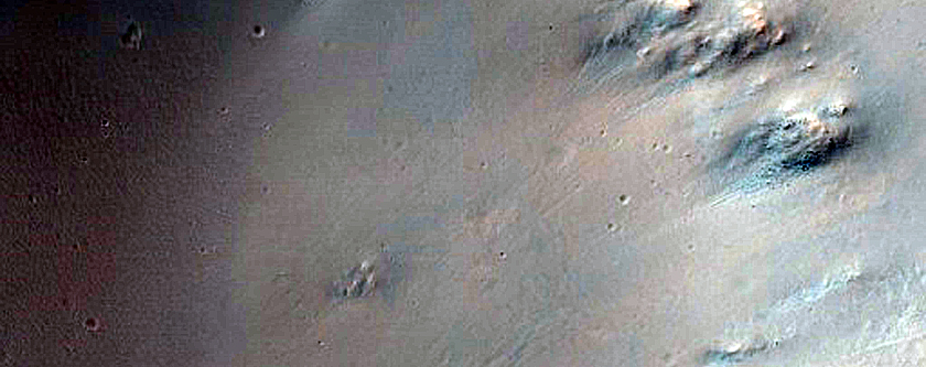 Crater and Crater Ejecta in Tyrrhena Terra