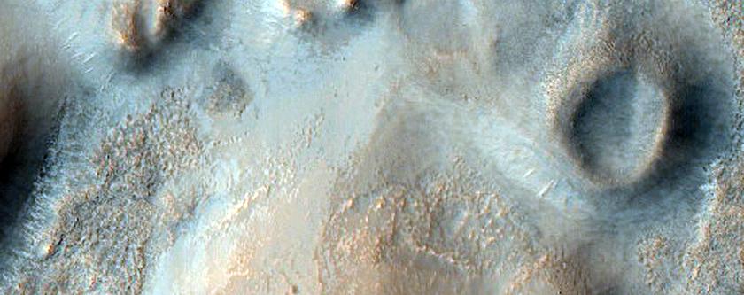 Crater in Arabia Terra
