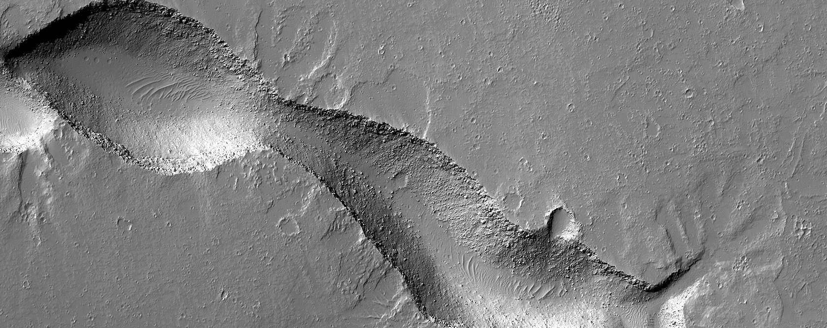 A Gecko-Shaped Fissure Vent in Gordii Fossae