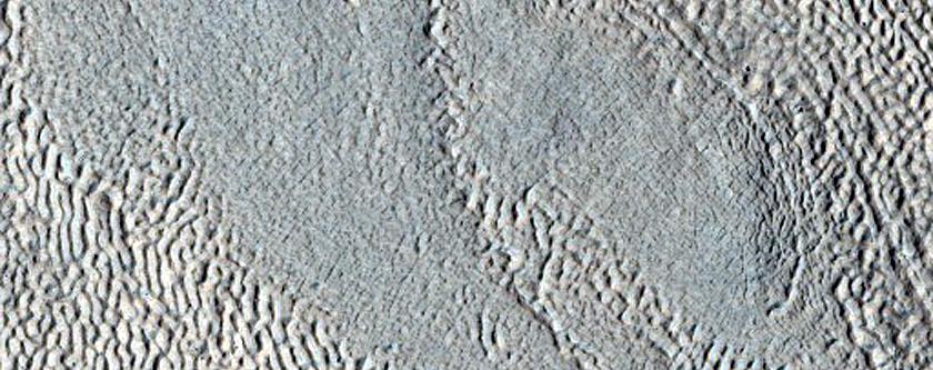 Ridges on Lobate Debris Apron Surface
