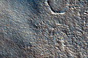 Crater Ejecta Northwest of Galaxias Colles