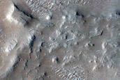 Mass Movement Deposit in Crater East of Galdakao Crater