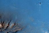 Terra Sabaea Crater Floor and Rim