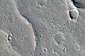 Sinuous Ridge in Tharsis Region