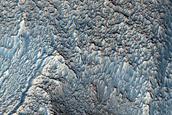 Ridges around Mound in Protonilus Mensae
